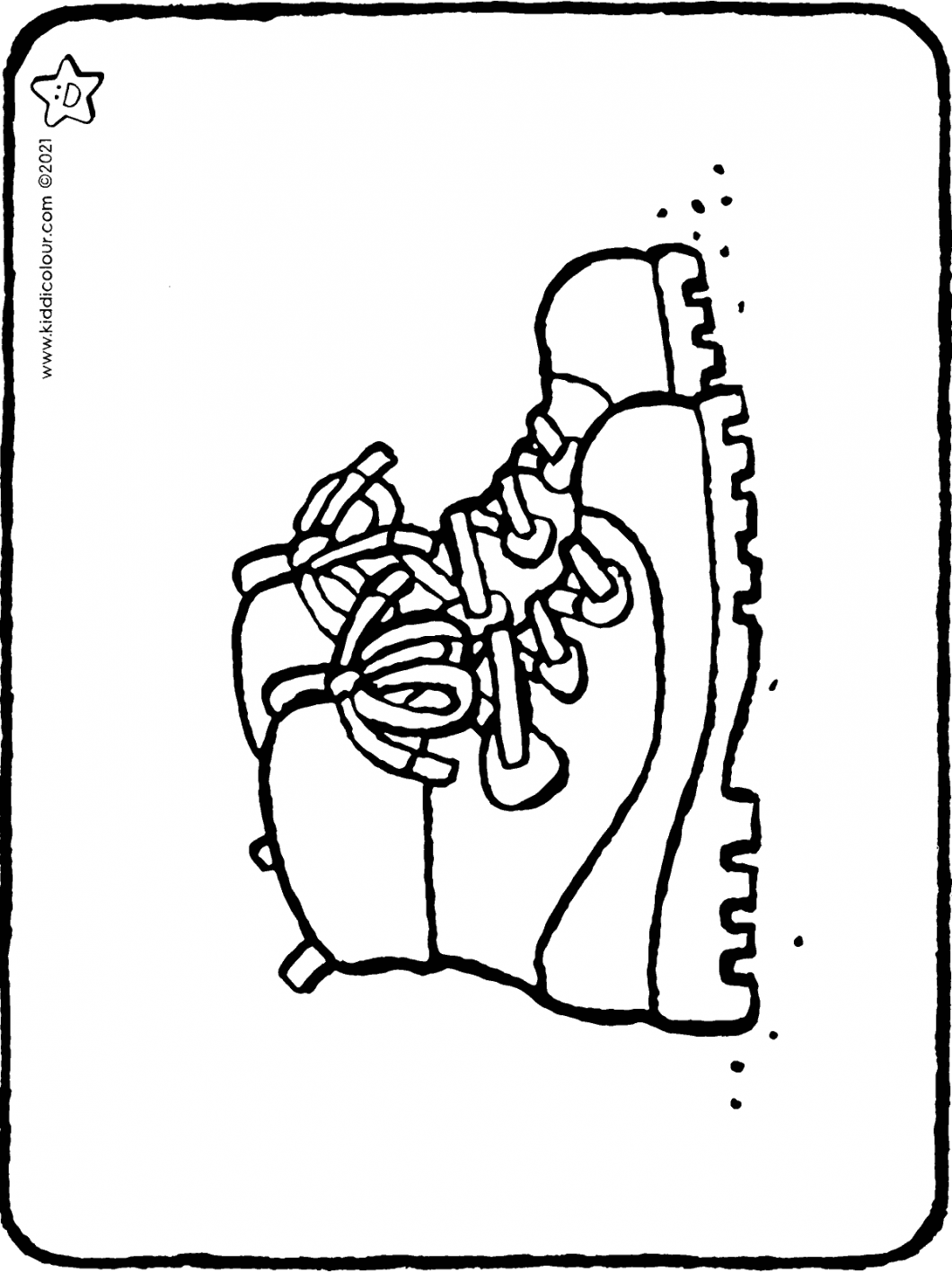 walking boots colouring page drawing picture 01H