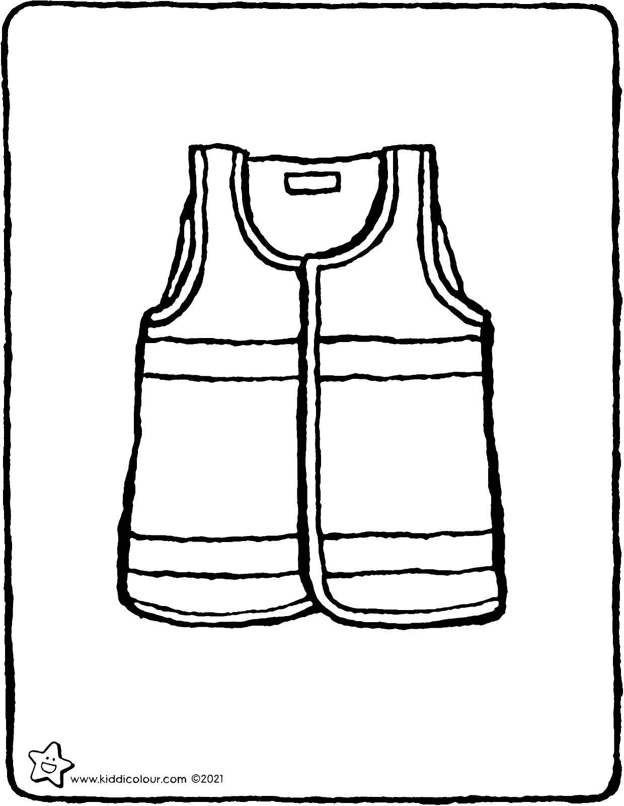 high-vis vest colouring page drawing picture 01V