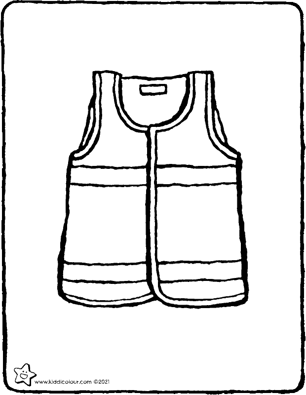 high-vis vest colouring page drawing picture 01k