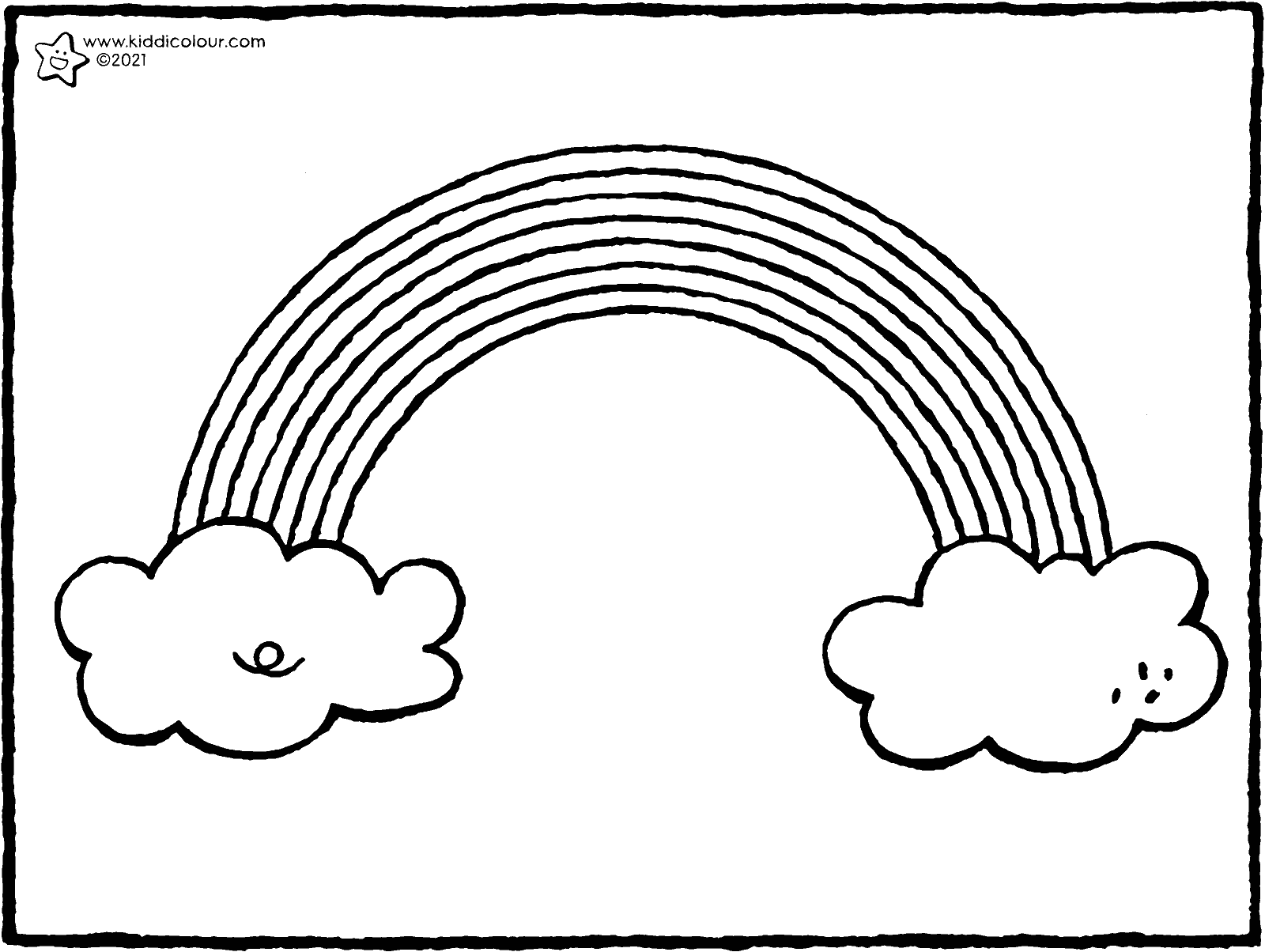 rainbow colouring page drawing picture 01k