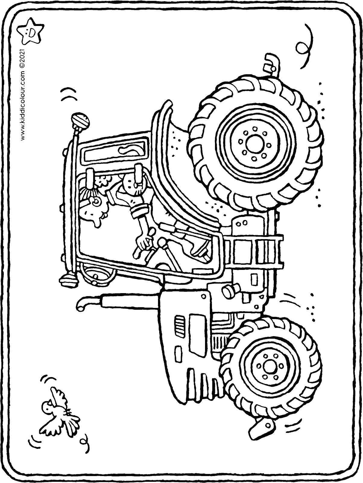 tractor colouring page drawing picture 01H