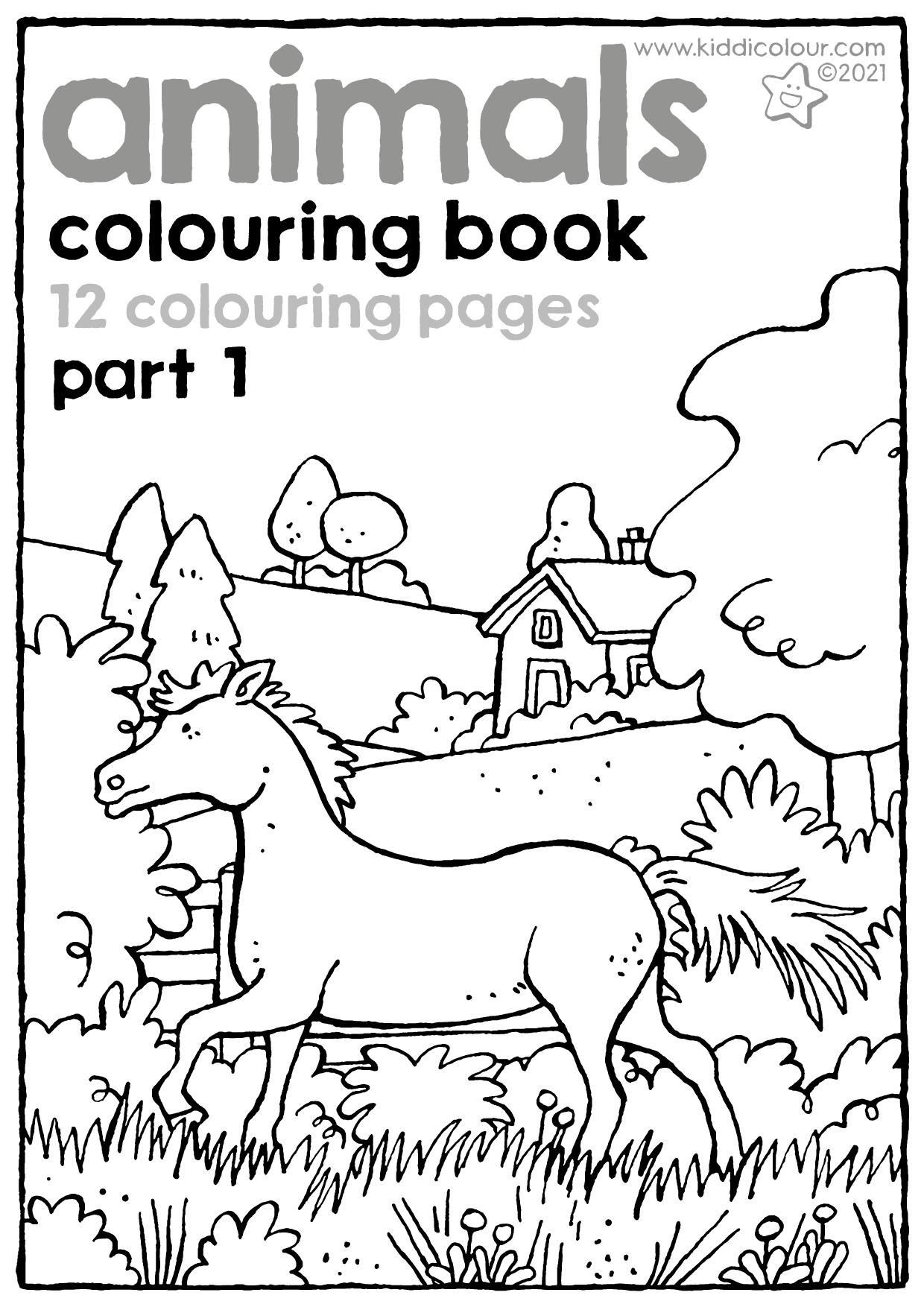 animals colouring book part 1
