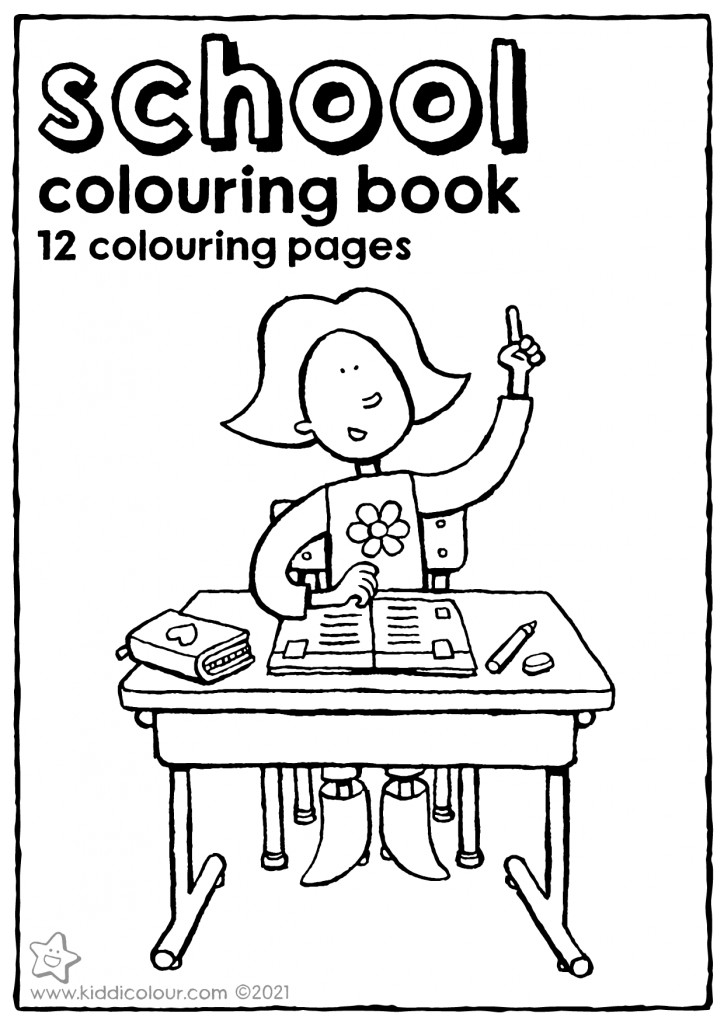 school colouring booklet