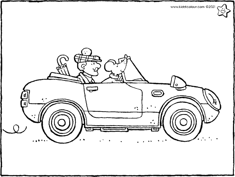sports car colouring page drawing picture 01k
