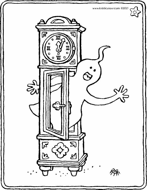 the witching hour coloring page - drawing - colouring picture 01k