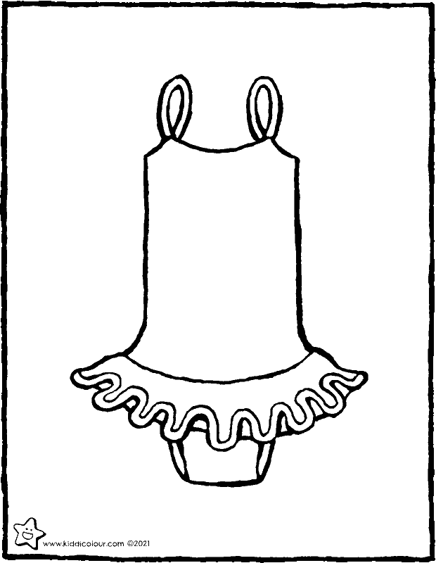 ballet costume colouring page drawing picture 01k